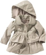 Vikoros Baby Girls Hooded Breasted Trench Dress Coat Clothes