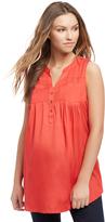 Motherhood Sleeveless Two Pocket Maternity Tunic