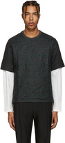 Wooyoungmi Grey Embroidered Wool T-Shirt