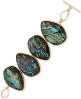Kenneth Cole New York Gold-Tone Abalone Stone Toggle Bracelet