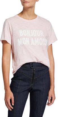 Cinq à Sept Bonjour Mon Amour Typographic T-Shirt