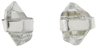 Melissa Joy Manning Herkimer Diamond Wrapped Stud Earrings - Sterling Silver