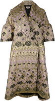 Temperley London 'Tower' jacquard coat - women - Silk/Nylon/Polyester/Metallized Polyester - M