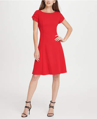DKNY Tulip Sleeve Fit & Flare Dress