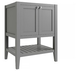 """CNC Costume National Cabinetry Vanguard 30"""" Single Bathroom Vanity Base Only Cabinetry Base Finish: Dove Gray"""