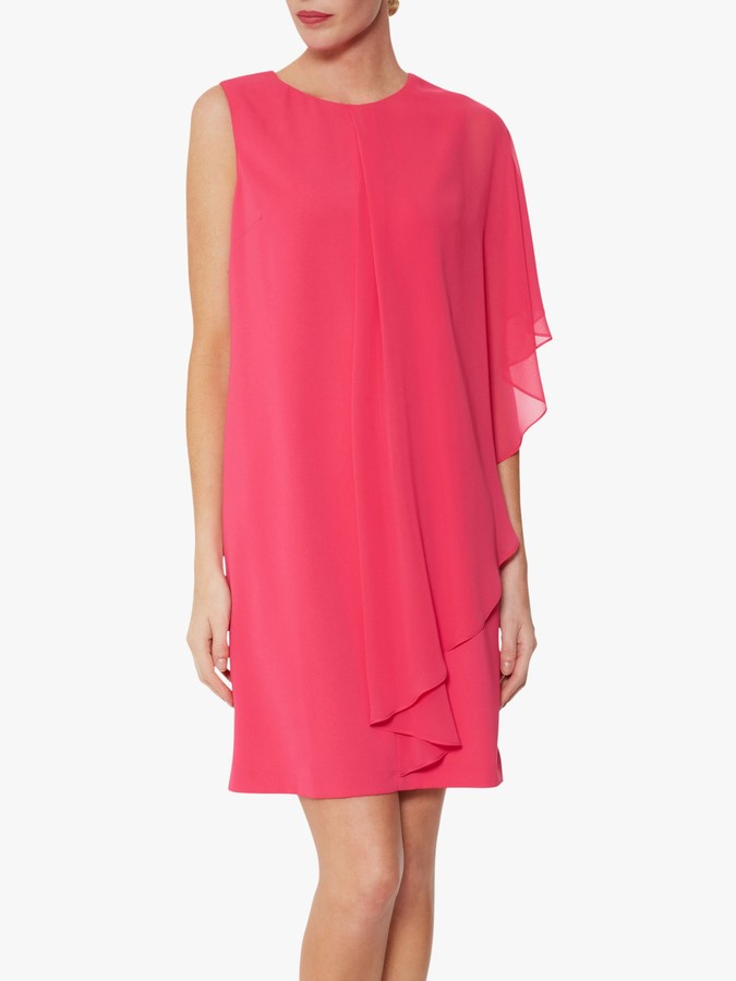 Thumbnail for your product : Gina Bacconi Aletta Moss Crepe Dress And Chiffon Cape