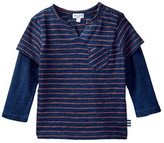 Splendid Striped Long Sleeve Twofer Tee (Baby Boys)