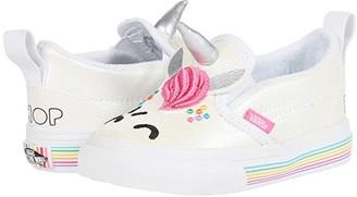 Vans Kids Slip-On V UNC (Infant/Toddler) ((Flour Shop) Cara The Unicorn) Kid's Shoes