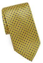 Brioni Floral Grid Silk Tie