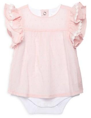 Miniclasix Baby Girl's Dotted Ruffle Bodysuit