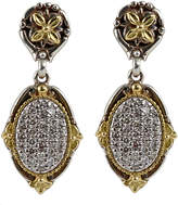 Konstantino Asteri Pave White Diamond Double-Drop Earrings