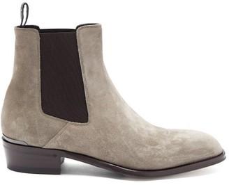 Alexander McQueen Suede Chelsea Boots - Grey