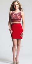 Dave and Johnny Illusion Embellished Two Piece Homecoming Dress