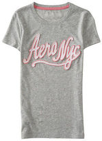 Aeropostale Womens Aero Nyc Script Graphic T Shirt