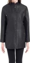 Max Studio Coated Textural Zip Front Jacket