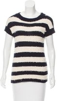 Derek Lam Short Sleeve Striped Sweater