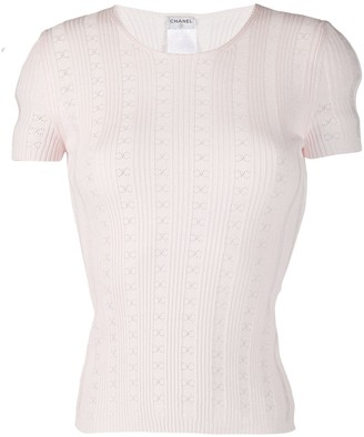 Chanel Pre Owned 2005's perforated CC knitted top