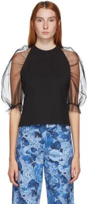 MSGM Black Tulle T-Shirt