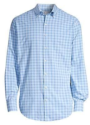 Peter Millar Men's Crown Sport Natural Touch Gingham Sport Shirt