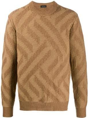 Roberto Collina geometric pattern knitted jumper
