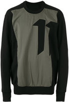 11 By Boris Bidjan Saberi number print sweatshirt