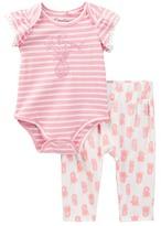 Jessica Simpson Bodysuit & Printed Pant Set (Baby Girls)