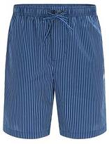 Hugo Boss Striped pyjama shorts in cotton poplin