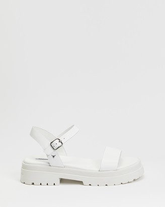 Windsor Smith Women's White Flat Sandals - Linger - Size 6 at The Iconic