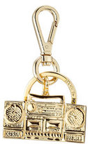 Moschino Gold-Tone Brass Keychain