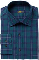 Club Room Men's Regular Fit Twill Houndstooth Plaid Dress Shirt, Created for Macy's