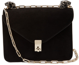 Valentino Panther-embellished suede shoulder bag