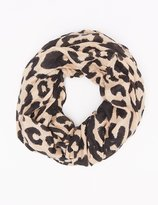 Charlotte Russe Leopard Print Infinity Scarf