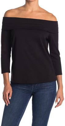 Gibson Off the Shoulder Ponte Top