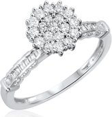 My Trio Rings 5/8 CT. T.W. Diamond Ladies Engagement Ring 14K White Gold- Size 3.5