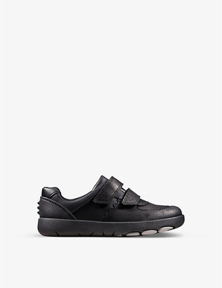 Clarks Rex Pace leather trainers 5-9 years