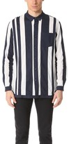 White Mountaineering Contrast Stripe Long Shirt