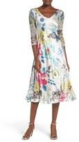 Komarov Women's Lace & Charmeuse A-Line Dress