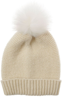 Piper Knit Beanie With Matching Fur Pom