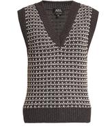 A.P.C. Sleeveless wool-blend sweater