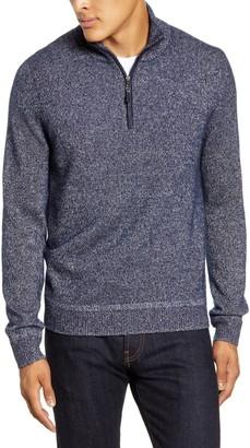 Nordstrom Cashmere & Silk Quarter Zip Sweater