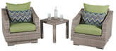Cannes Club Chairs and Table Set (3 PC)