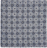 Fairfax Men's Reversible Linen-Cotton Compact Gauze Pocket Square-NAVY, WHITE, LIGHT BLUE