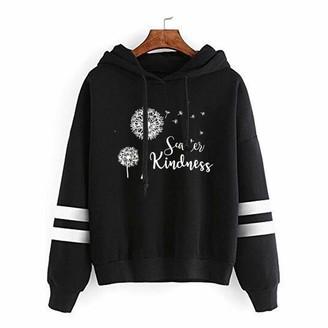 Layan B LAYAN-B Womens Hoodie Sweatshirt Striped Print Valentine's Day Love Memory Jumper Long Sleeve Pullover Top (4-Gray XXL)