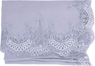 Janavi India Lace Border Shawl