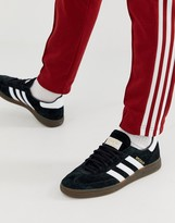 adidas handball spezial sneakers in black with gum sole