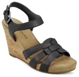 Aerosoles Pennsville Strappy Wedge Women's Shoes