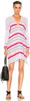 Lemlem Adia Open Back Caftan in Pink,Stripes,White.