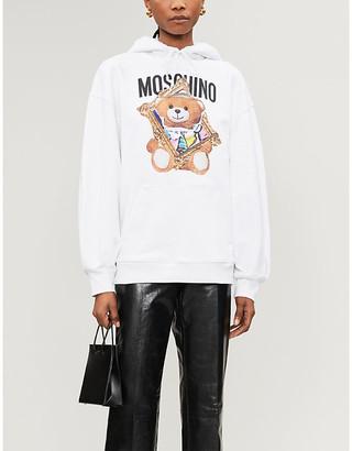 Moschino Bear-print cotton-jersey hoody