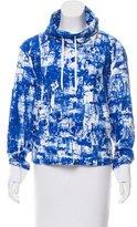 Helmut Lang Splatter Print Funnel Neck Sweatshirt