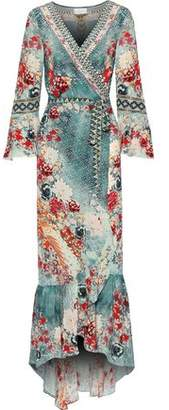 Camilla Her Heirloom Embellished Printed Silk Crepe De Chine Maxi Wrap Dress